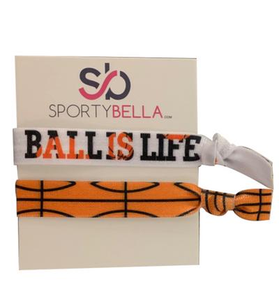 Basketball Hair Ties - 2pc Set - Sportybella