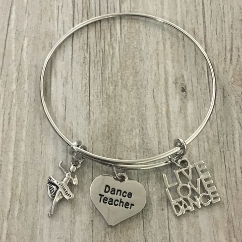 Dance Teacher Live Love Dance Keychain