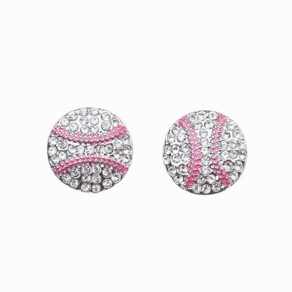 Baseball Rhinestone Earrings - Sportybella