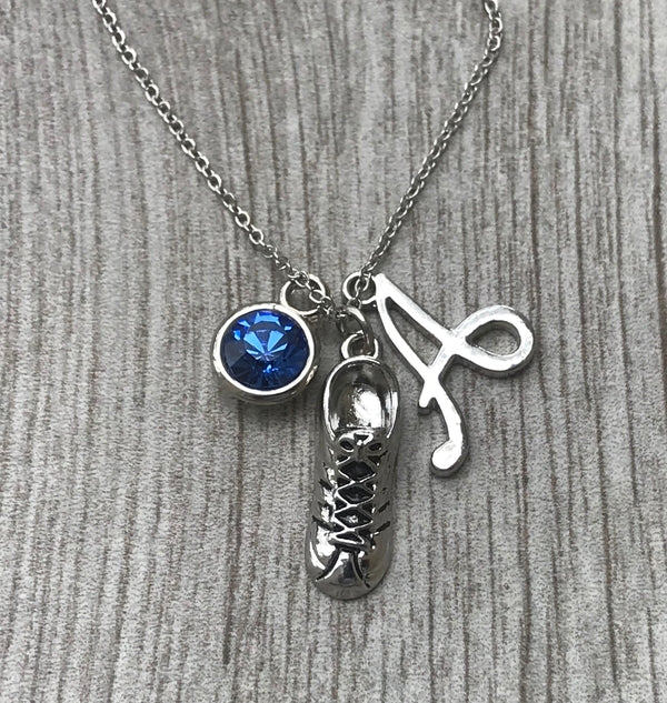 Personalized Runner Charm Necklace