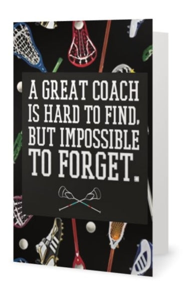 Lacrosse Coach Card