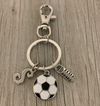 Soccer Zipper Pull with Letter