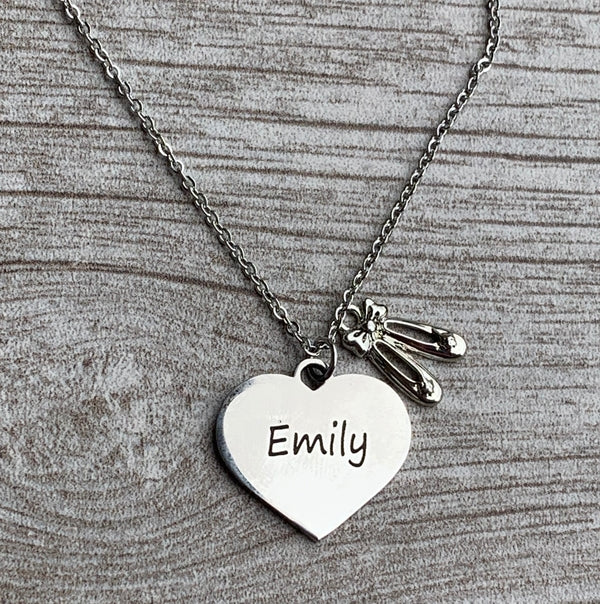 Personalized Engraved Dance Necklace