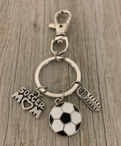 Soccer Ball & Cleat Keychain