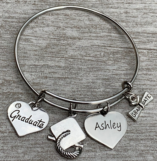 Personalized Engraved Graduation Bracelet