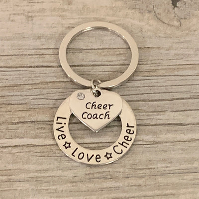 Cheer Coach Live Love Cheer Keychain - Sportybella