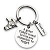 Equestrian Great Coach is Hard to Find But Impossible to Forget Keychain