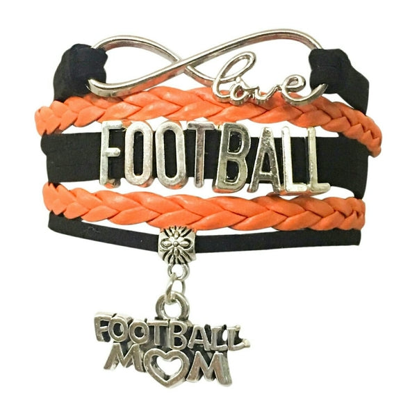 Football Mom Infinity Bracelet- Pick Colors
