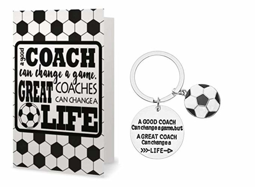 Soccer Coach Keychain, Great Coach Can Change a Life