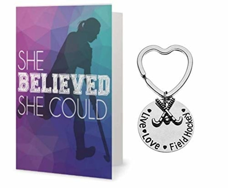 Field Hockey Keychain & Card Set