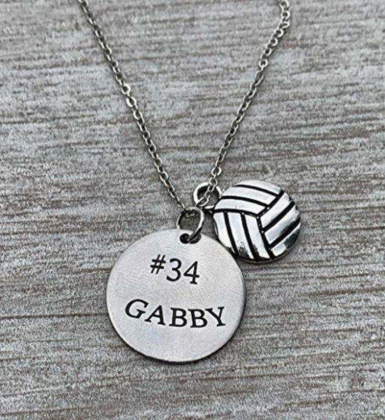 Personalized Engraved Volleyball Neckalce