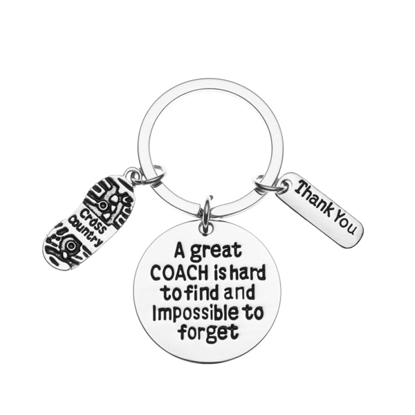 Cross Country Coach is Hard to Find But Impossible to Forget Coach Keychain