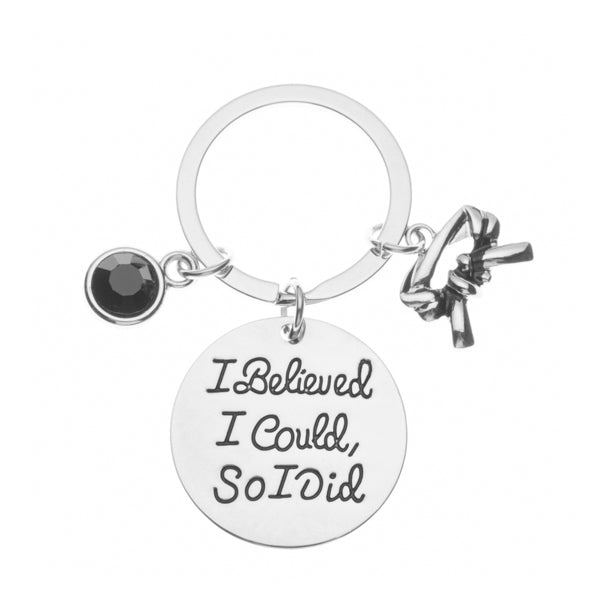 Martial Arts I Believed I Could So I Did Black Belt Keychain
