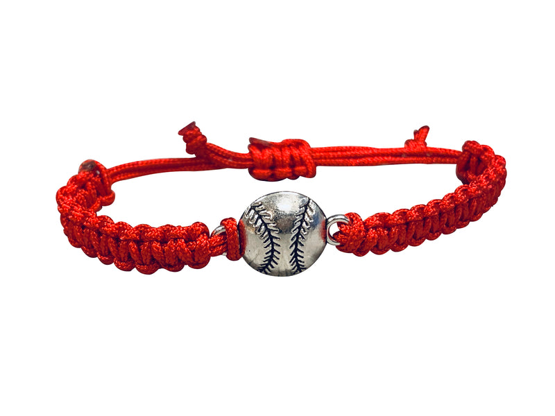Softball Adjustable Rope Bracelet