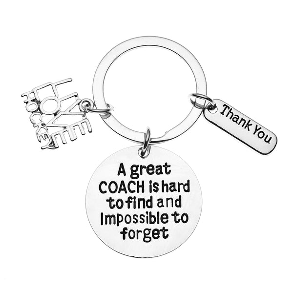 Ice Hockey Coach Keychain - Live Love Hockey