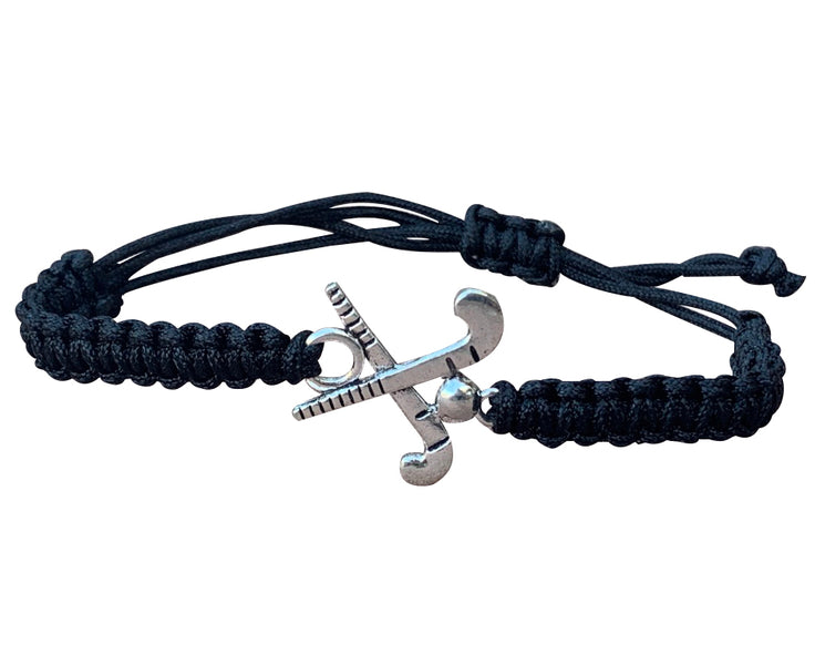 Field Hockey Rope Bracelet - Black