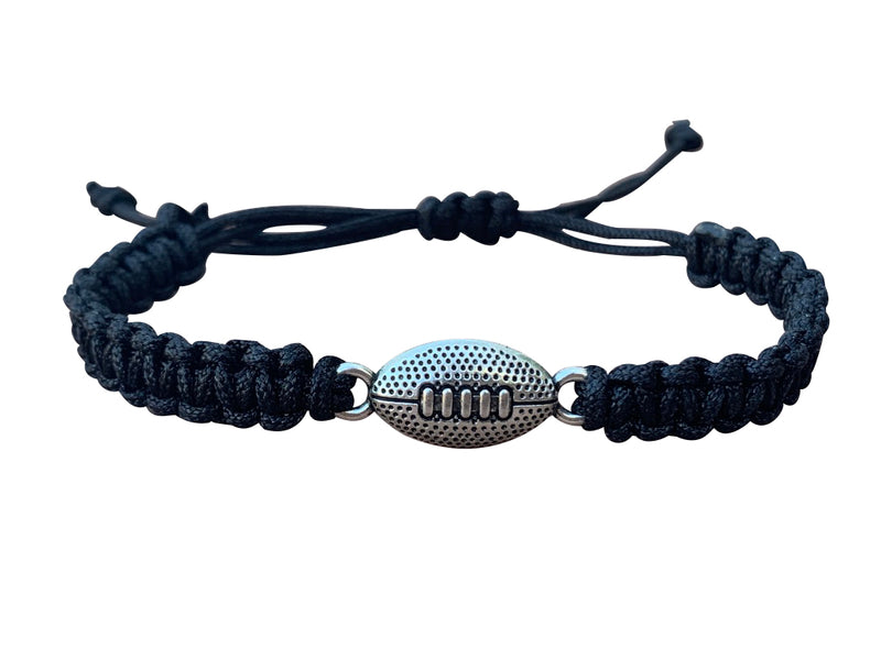 Football Rope Bracelet - Black