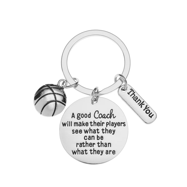 Basketball Coach Keychain