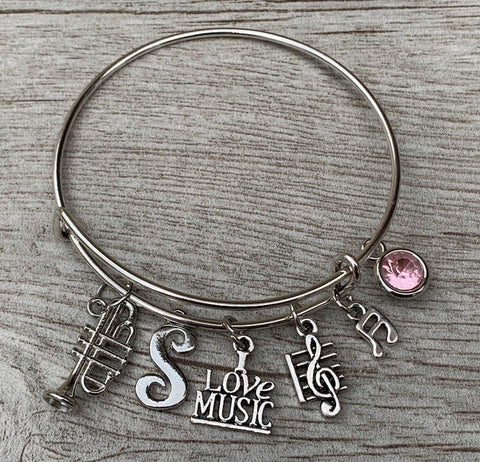 Music Bracelet - Music Jewelry - Music Gift - Treble Clef Jewelry