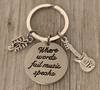 Guitar Keychain - When Words Fail Music Speaks