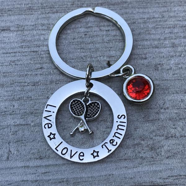 Personalized Tennis Keychain