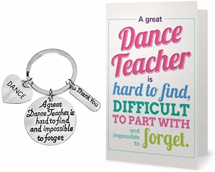 Dance Teacher Keychain & Card Gift Set