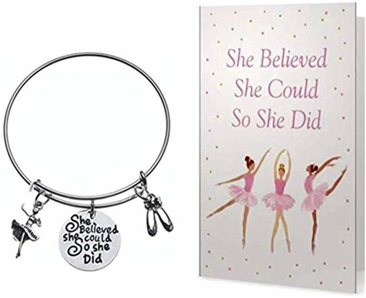 Dance She Did Bracelet & Card Gift Set