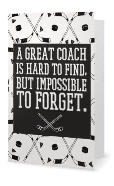 Ice Hockey Coach Card