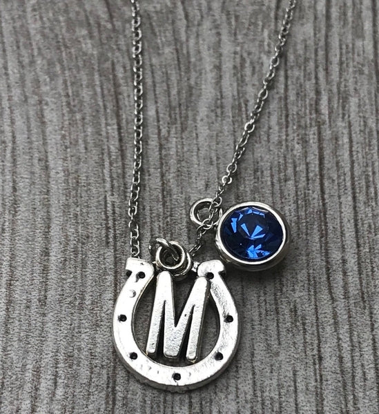 Personalized Horseshoe Necklace