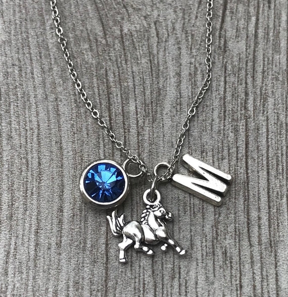 Personalized Horses Necklace