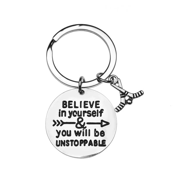 Ice Hockey Keychain- Believe In Yourself