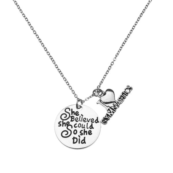 Gymnastics She Believed She Could So She Did Necklace - Love