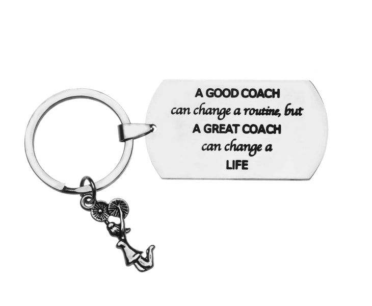 Cheer Coach Keychain- Change Routine