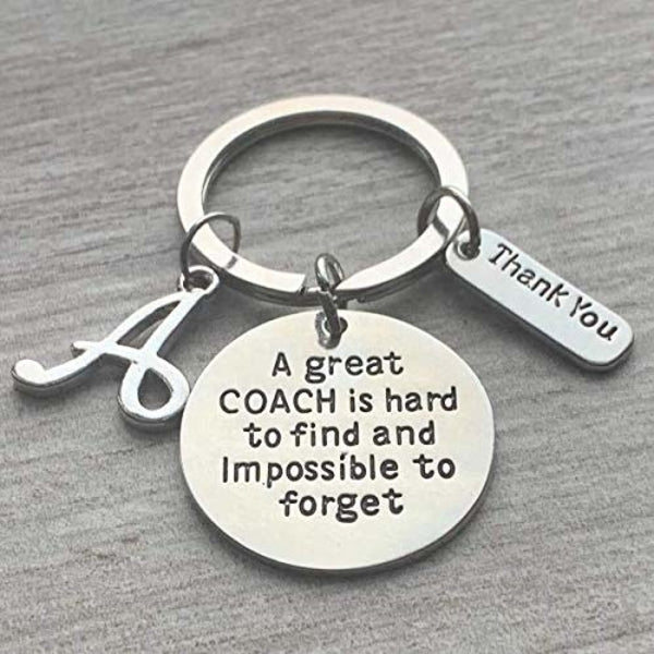 personalized coach keychain