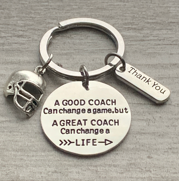 Football Great Coach Can Change a Life Keychain