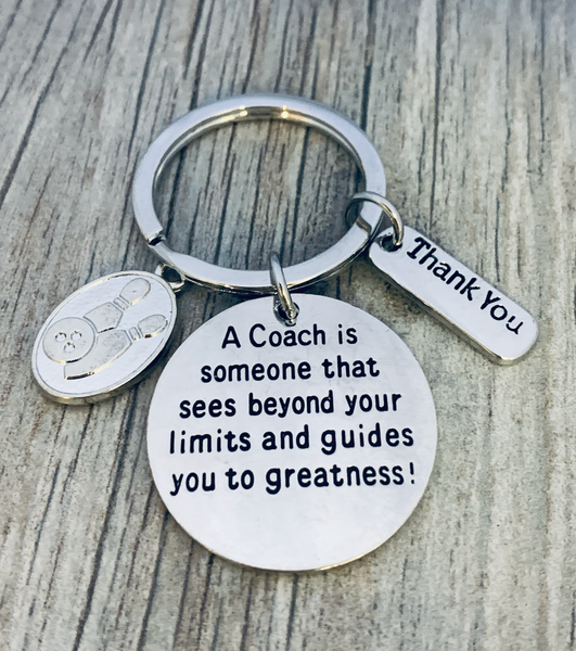 Bowling Coach Keychain - See Beyond Limits