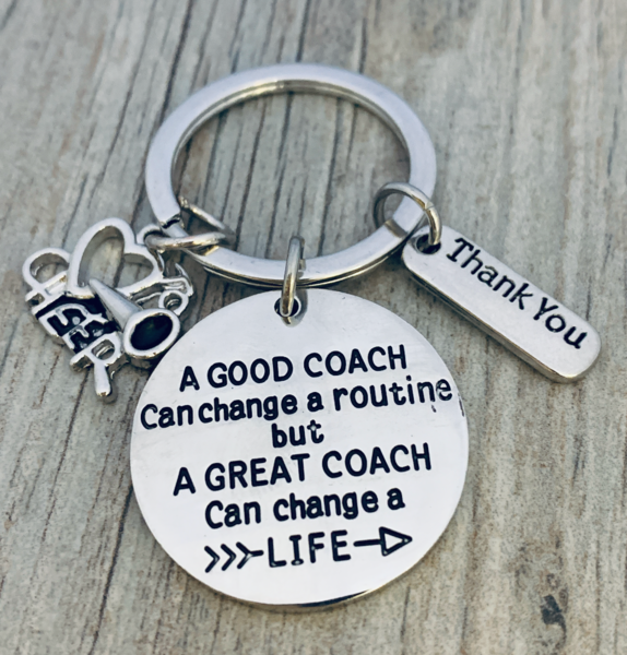 Cheer Coach Keychain - Change Routine