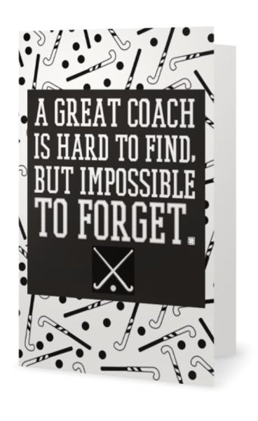 Field Hockey Coach Card