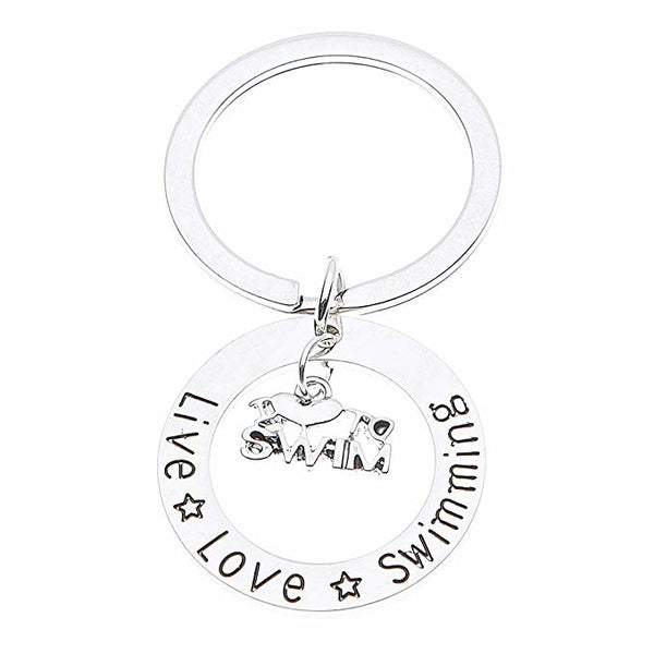 Live Love Swimming Keychain