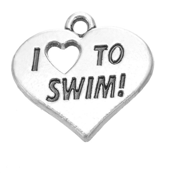 Love to Swim Charm