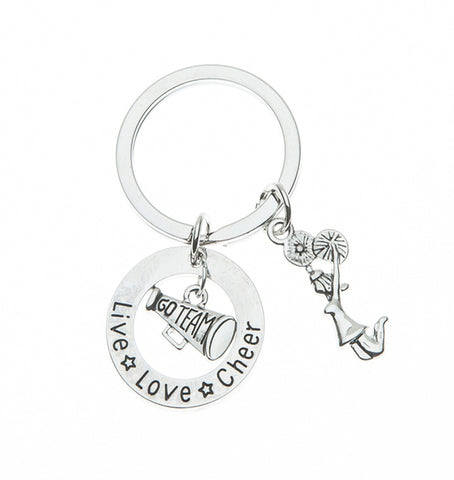 Personalized Cheer Great Coach is Hard to Find But Impossible to Forget Keychain