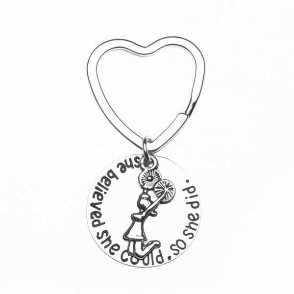 Cheer Keychain- She Believed She Could So She Did