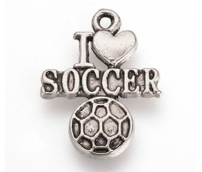 Love Soccer Ball Charm
