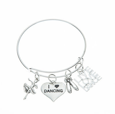 Live Love Dance Bangle Bracelet