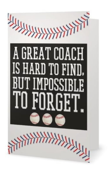 Baseball Coach Card
