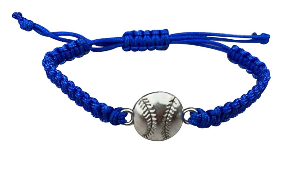 Softball Adjustable Rope Bracelet - Pick Color