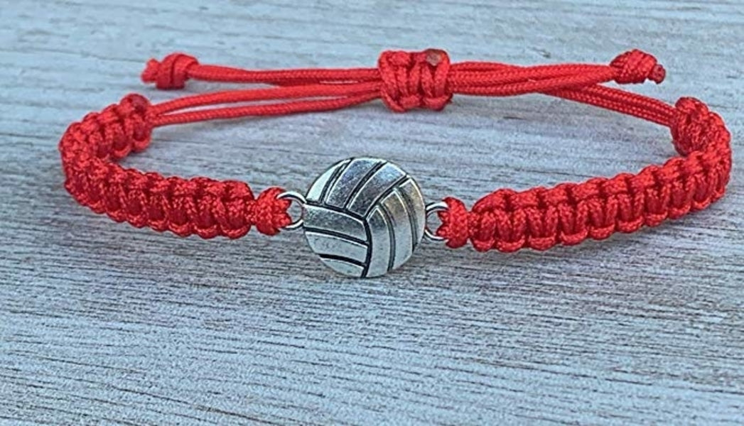 Volleyball Rope Bracelet - Red