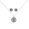 Basketball Rhinestone Earrings & Necklace Set
