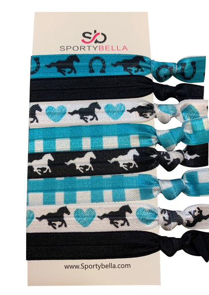 Girls Equestrian Horse Hair Ties
