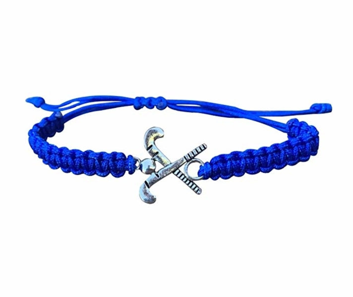 Field Hockey Rope Bracelet - Blue